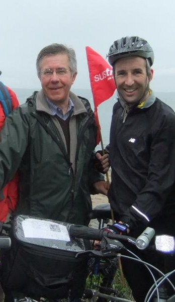 Andrew Muir and Sustrans CEO Malcolm Shepherd