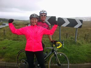 (12) Sandra and me at top of Cushleake Road 07-09-2013