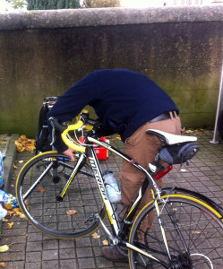 CRC mechanic fixes brakes @Hilltown27-10-2013
