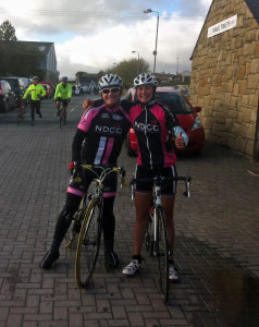 Rachy & me at the finish Mourne Etape 27-10-2013