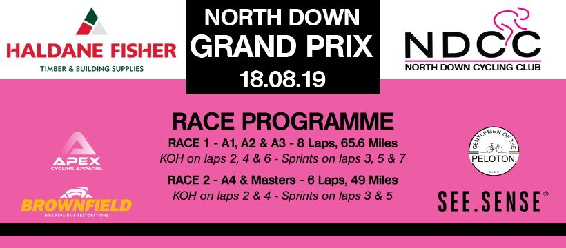 Haldane Fisher North Down Grand Prix Start Lists